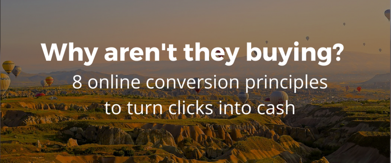 8 website conversion principles to turn clicks into cash