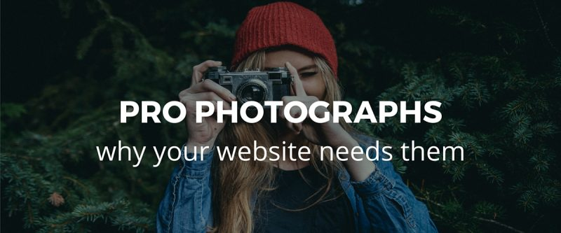 The importance of using professional photographs on your company website